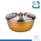 Персонализированный комплект Cookware шаров цветастой нержавеющей стали смешивая
