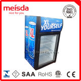 Более холодная витрина, стеклянный холодильник индикации двери