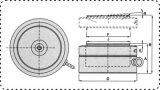 Конструкция блинчика для малого цилиндра гидровлического Jack космоса