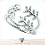 Захват CZ людей женщин Gemstone диаманта золота кольца ювелирных изделий способа кристаллический звенит кольцо перлы обручального кольца стерлингового серебра CZ 925 Shine таможни просто белое