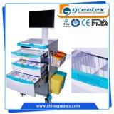 Carrello medico dell'ospedale della FDA del Ce, carrello medico del computer portatile (GT-QNT6201)