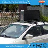 Barramento ao ar livre da parte superior do táxi da cor P5 cheia que anuncia o indicador de diodo emissor de luz