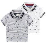 Couleur de la chemise de polo des vêtements des enfants estampés par plaine 2
