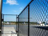 Treillis métallique enduit de frontière de sécurité de treillis métallique de maillon de chaîne de PVC/de diamant