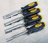 4PCS木工業の工具セット40crの鋼鉄木工用彫刻刀セット