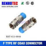 Conector de cable coaxial F Conector macho de compresión