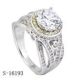 De echte Zilveren Ringen van de Diamant van de Ringen van Micropave van Juwelen Robijnrode