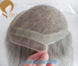 Toupee dei capelli umani di Remy di alta qualità di 100% per l'uomo anziano