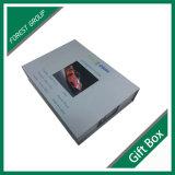 Rectángulo de regalo de papel con la pieza inserta verde en China