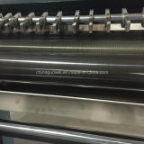 El PLC controla la película que raja y máquina el rebobinar en 200 M/Min