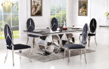2017 Mobiliário de sala de estar de design novo Mesa de café quadrada de vidro Série de móveis de Benz