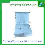 Rectángulo de empaquetado de alta calidad de encargo del Hardcover del rectángulo del rectángulo de regalo