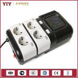 Regulador de voltaje automático controlado por microprocesador del socket de la banda AVR 2000va para el ordenador /TV/Printer