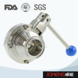 Válvula de esfera soldada sanitária de borboleta de aço inoxidável tipo borracha (JN-BLV1004)