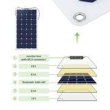 comitato solare del mono modulo solare flessibile 25W per la batteria 12V