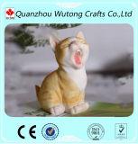 Figurine divertente del gatto del carattere della casa della resina moderna della decorazione