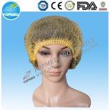 使い捨て可能なNonwoven Hairnet、Nonwoven Bouffant帽子、Nonwoven円形の帽子