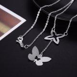 De Zilveren Halsband van de Vrouwen van de Tegenhanger van de Vorm van de vlinder