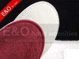 刺繍のロゴの高品質の綿の終わりのつま先のホテルのスリッパ