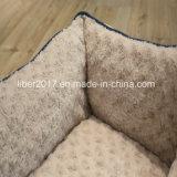 Colchão da casa da base do sofá do fundamento do gato do cão dos produtos do animal de estimação da impressão da flor da tela