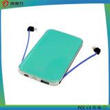 batería ultrafina de la potencia 5000mAh con el cable incorporado del USB