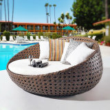 Rattan Outdoor Canopy Patio Lounge Furniture Sofa Chair Sunbed Daybed with Cushions