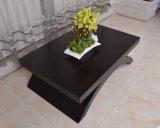 Table basse en bois personnalisée de rectangle de salle de séjour avec la patte arquée