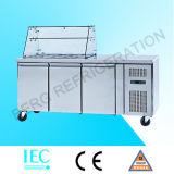 Zwei Tür-Handelszwischenlage-Kostenzähler-Kühlraum mit Cer