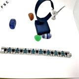 Braccialetto trasversale multicolore unisex dell'acciaio inossidabile del nuovo modello di vendita della fabbrica