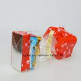 Customzied druckte BOPP transparenten quadratischen harten geendeten seitlichen Stützblech-Zellophan-Süßigkeit-Beutel-Geschenk-Beutel mit harter Unterseite