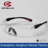 Los templos flexibles de Reclus del negro barato de las gafas de seguridad borran la lente para el funcionamiento del corte
