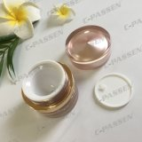 vaso crema acrilico rotondo dell'Rosa-Oro 50g per l'imballaggio dell'estetica (PPC-ACJ-113)