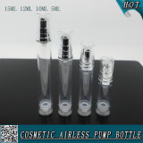 Botella recargable plástica clara cosmética del aerosol con Hozzle