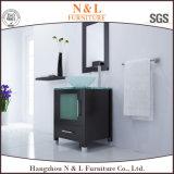 N&L Badezimmer-Möbel-Eichen-Badezimmer-Eitelkeit mit Glaswäsche-Bassin