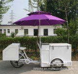カートのアイスクリームおよびコーヒー販売のトラックを販売する工場価格の三輪車の軽食