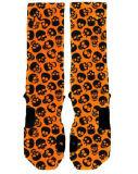Kühle orange Schädel-Form-Mann-Auslese-Socke