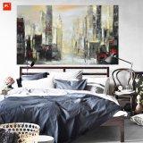 Pintura al óleo abstracta de la configuración