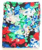 Disegno 100% della signora Scarf Multicolor Flower Printed del poliestere (HWBPS107)