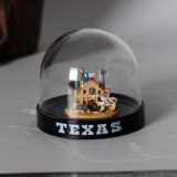 Cheap Price Mini Plastic Castle Snow Globe para Presentes Promocionais