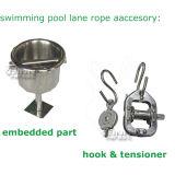 O FL Anti-Acena competindo a corda da pista da piscina