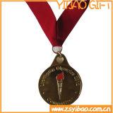 La medaglia di oro dello smalto della pressofusione con il nastro di stampa (YB-MD-66)