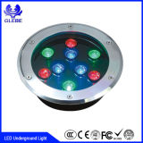 10W Floor LED Buried luz AC 24V luz RGB LED luz subterráneo