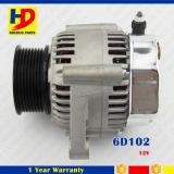 Alternador 12V del kit del motor diesel de Guangzhou 6D102