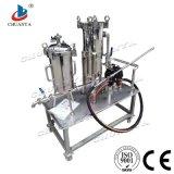 Cárter del filtro modificado para requisitos particulares industrial de bolso del acero inoxidable con la bomba del purificador del agua