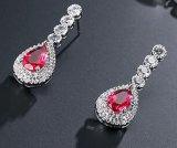 宝石類の銀および真鍮の新しいジルコンの水晶ネックレスのイヤリングのネックレス