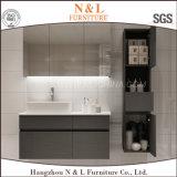 Vanité de salle de bain en PVC moderne moderne monté au sol avec miroir