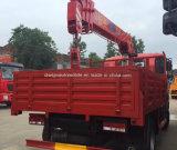 Sinotrk小さい4*2のトラックはまっすぐなアームクレーン5tトラックによって取付けた