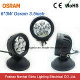 """Luz de conducción redonda de Osram LED del punto campo a través 3.5 """" 18W (GT2009-18W)"""