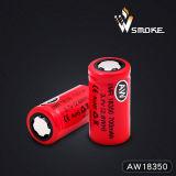 Bateria seca recarregável do Li-íon de Aw18350 800mAh 3.7V