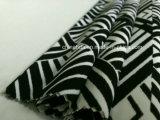 Tela negra y blanca simple de la impresión del modelo para el traje de baño (HD1401108)